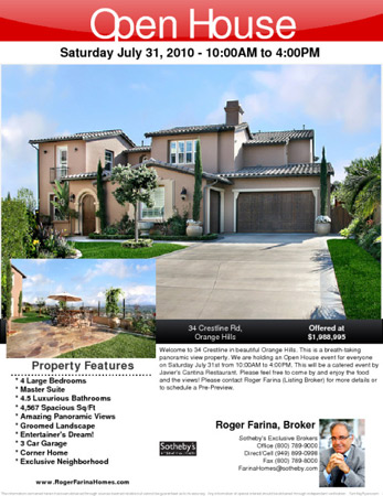 Broker Open House Flyer Templates - Microsoft publisher real estate flyer templates